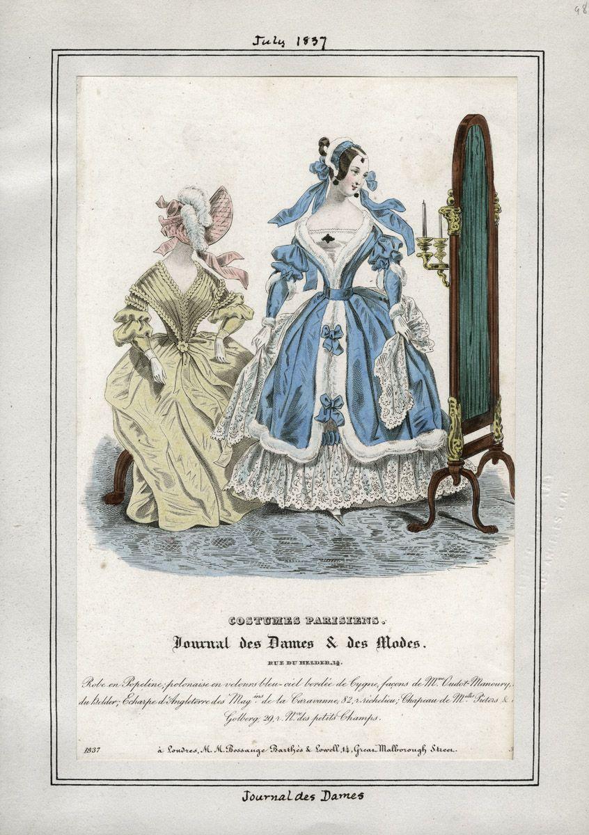 Journal des Dames - Costume Parisien July 1837 LAPL