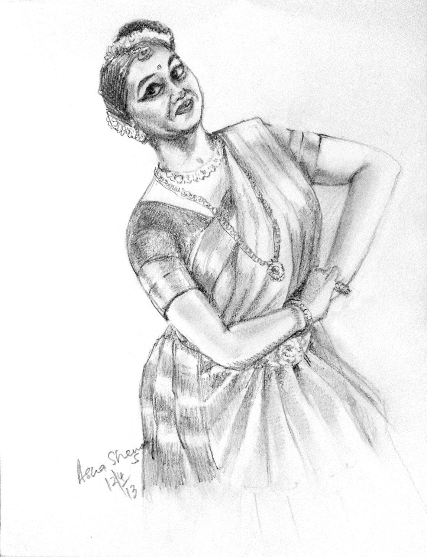 Original gift art black and white art mohiniattamwall decor pencil sketch indian classical dancer pencil drawing wall art table art gift art by artbyashaa