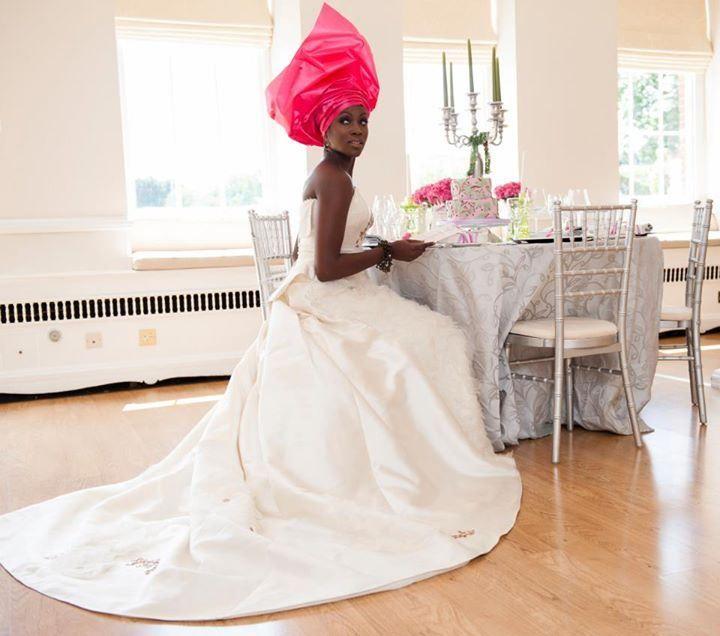 Stunning african vintage wedding dress by designer yemi