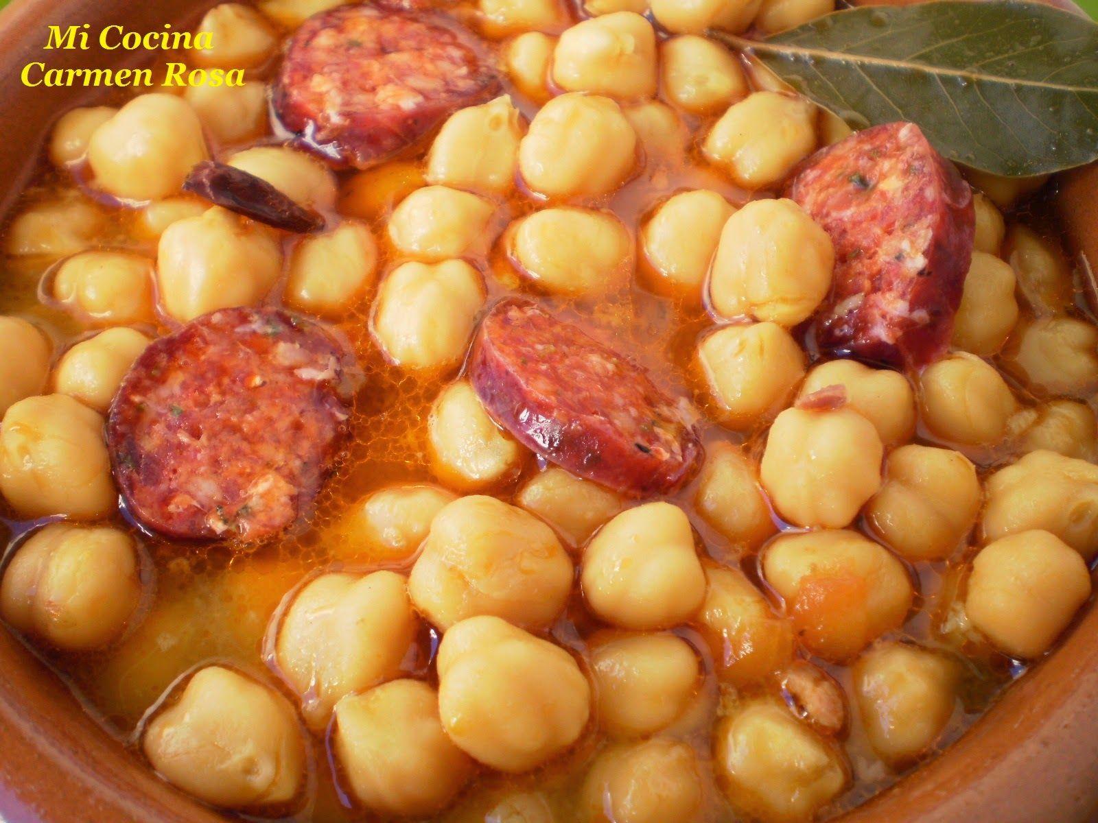 Mi Cocina Potaje De Garbanzos Con Chorizo Garbanzos Con Chorizo Garbanzos Verduras