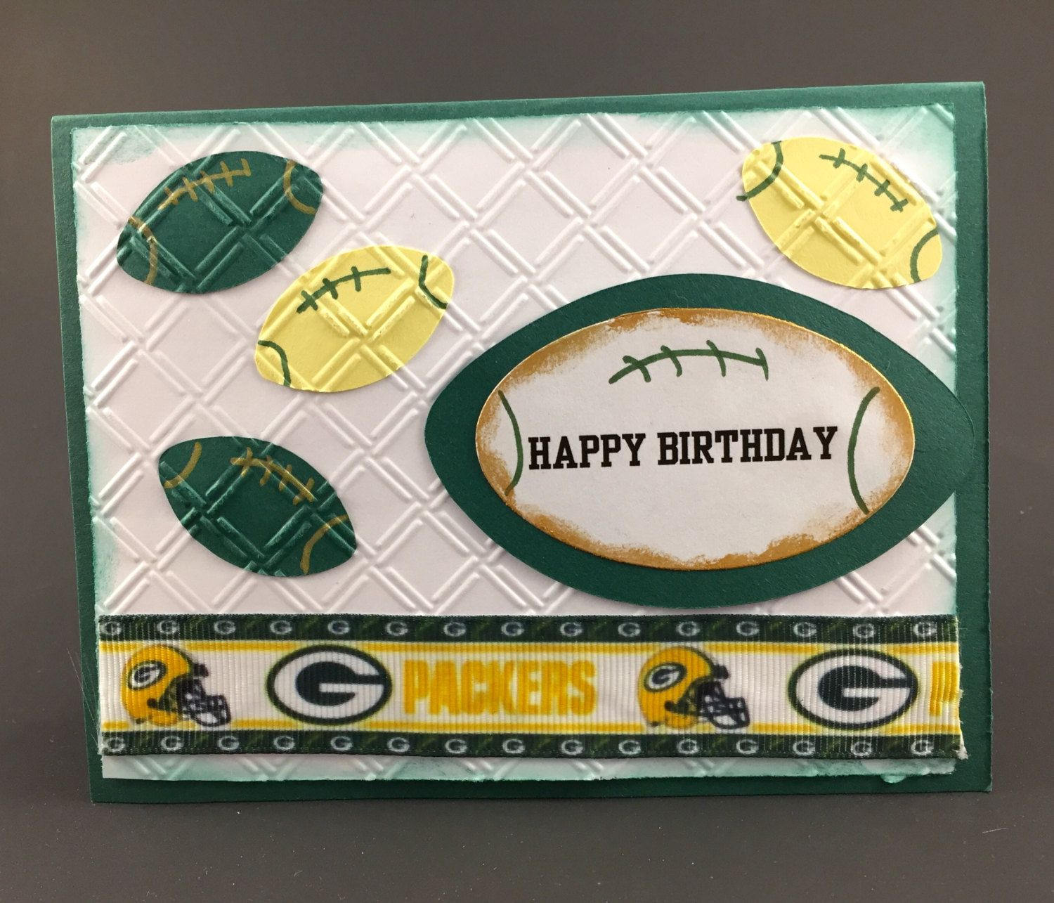 Green Bay Packers Cardgreen Bay Packers Birthday Cardcard Etsy Green Bay Packers Birthday Cards Handmade Birthday Card Craft