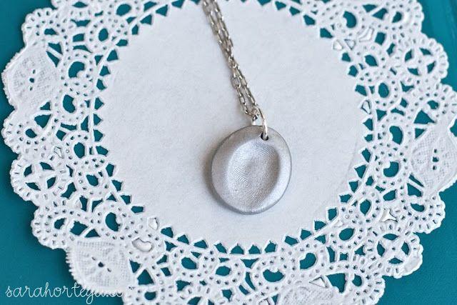 Sarah Ortega: diy {fingerprint jewelry}