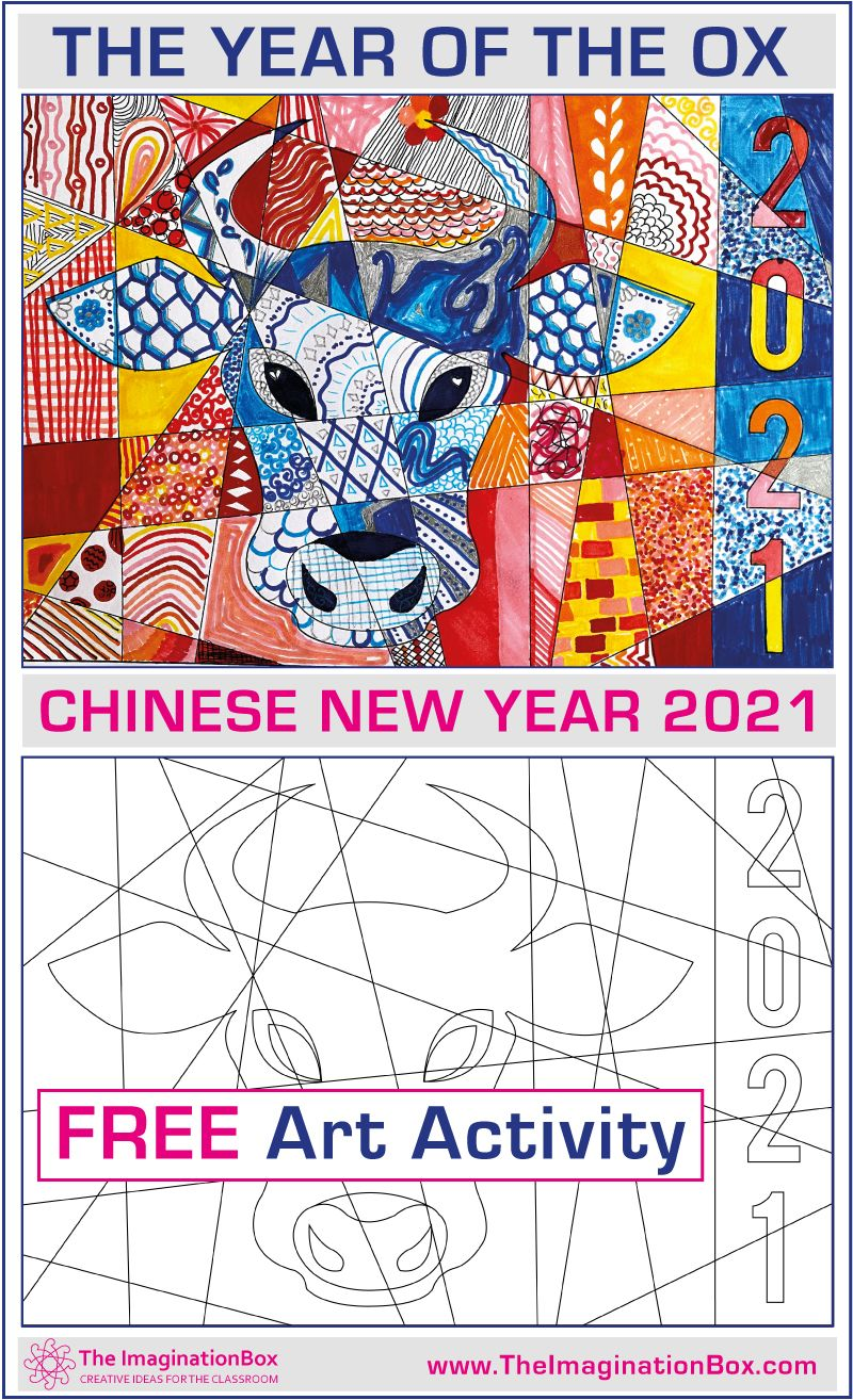 Chinese New Year Activities 2021 Free Ox Coloring Pages In 2021 Chinese New Year Activities Art Activities Chinese New Year