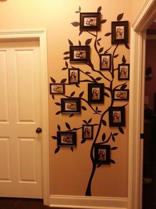 My Family Tree Photo Wall Walmart Tree Wall Stick Up And Dollar