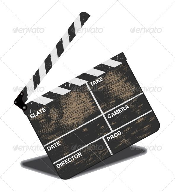 Old Clapperboard Film Roll Cinema Art Vintage Movies