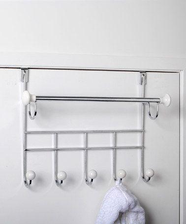 Look At This Zulilyfind Towel Bar Over Door Hook Rack Zulilyfinds Towel Rack Over Door Towel Rack Door Hooks
