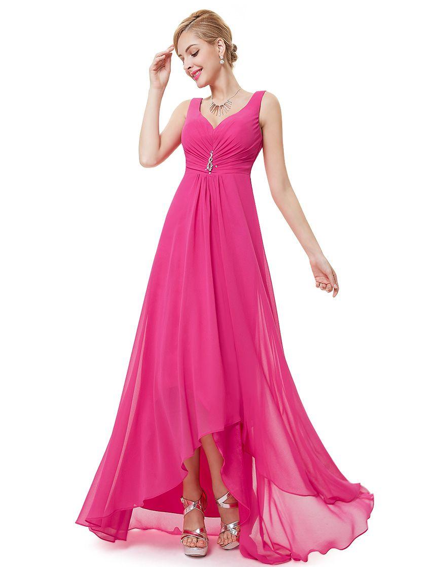 c60544667d0b Cyklamenové spoločenské šaty na ramienka Style 9983