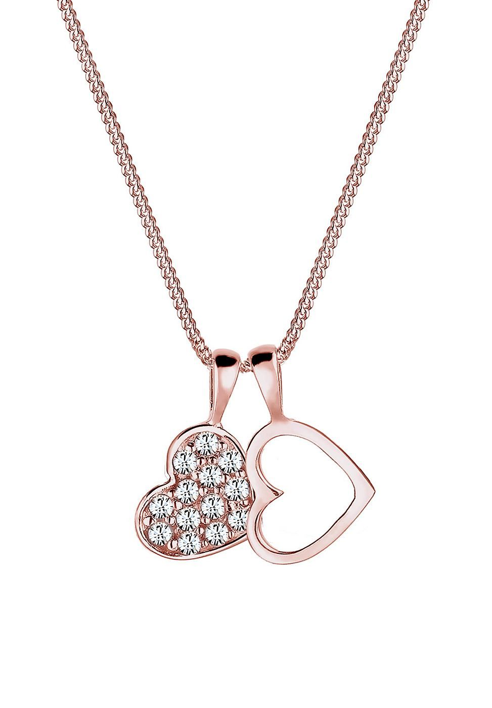 Elli Armband »Herz Swarovski Kristalle 925 Sterling Silber