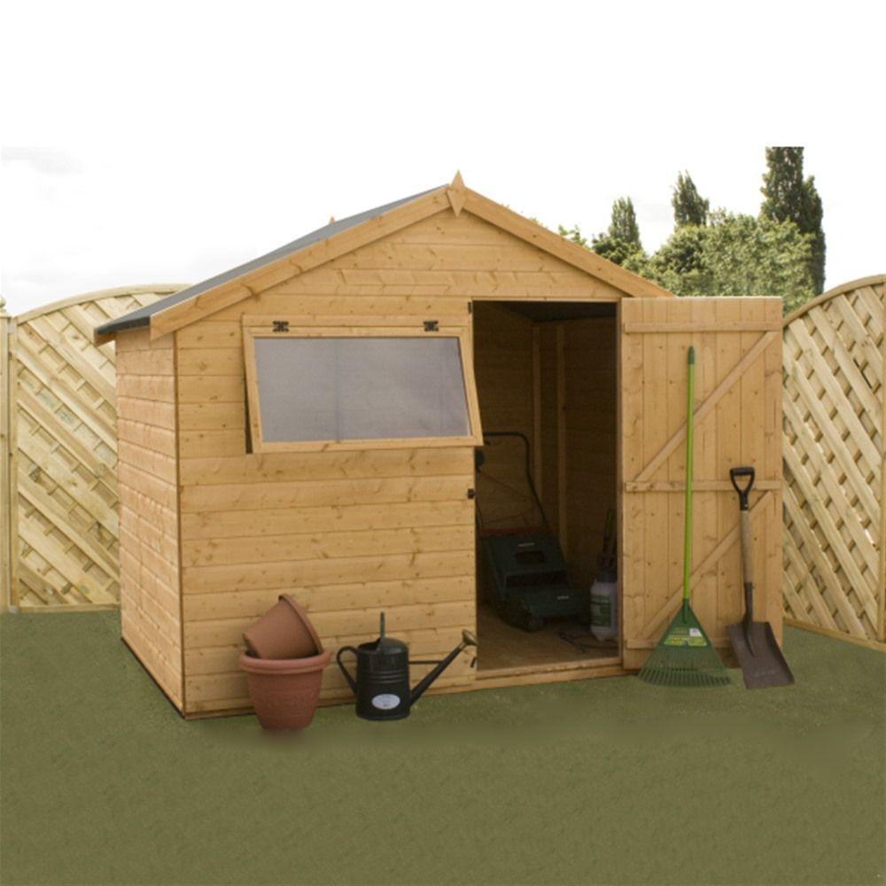 Mercia Reverse Apex Wooden Garden Shed 6u0027 X 8u0027
