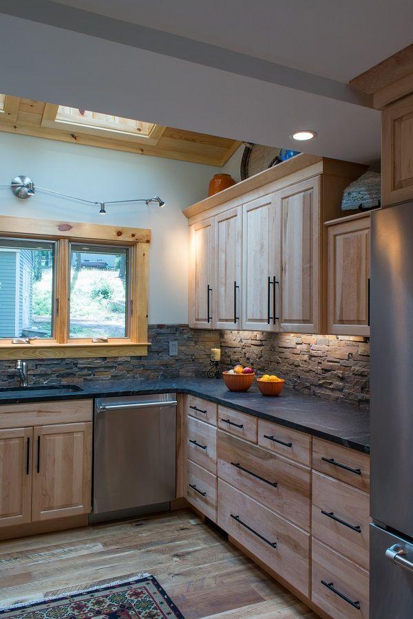 Moultonborough NH Birch Kitchen | Hickory kitchen cabinets ...