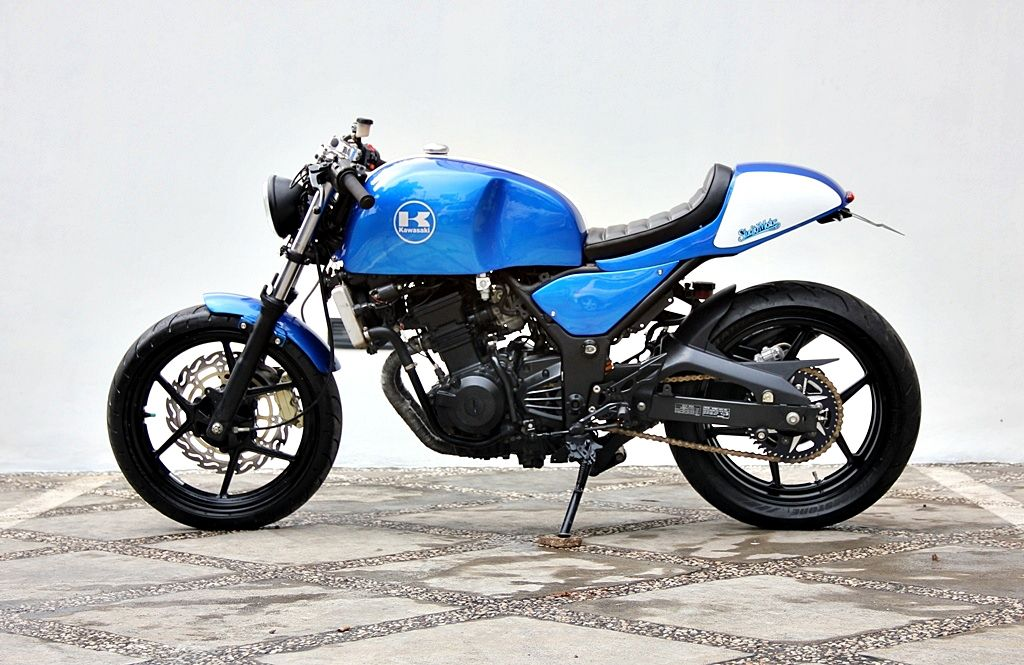 Modifikasi Motor Kawasaki Ninja 250 Cafe Racer Style 2 Wheeled Dreams