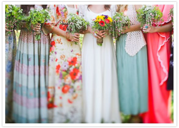Bright Coloured Bridesmaid Dresses: Bold And Bright Colored Bridesmaid Dresses. Love That It's