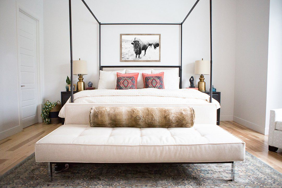 10 affordable Canopy Beds for Master Bedrooms | sexy canopy bed | bench at foot of & Master Bedroom Design Canopy Beds | Master bedroom design Canopy ...