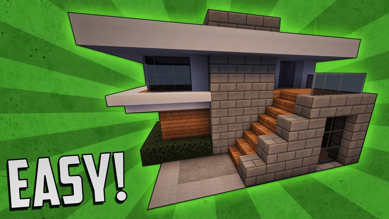 Minecraft: How To Build A Small Modern House Tutorial (#4 ...