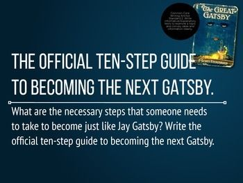 60 writing prompts for the great gatsby writing prompts gatsby