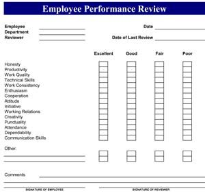 Sample Employee Performance Review   Hr    Business