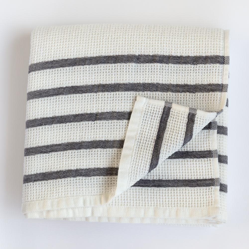 Striped Towels, Grey Stripes