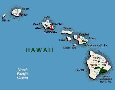 Mappa - Hawaii