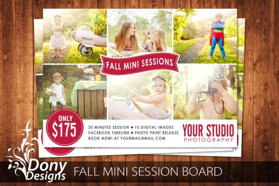 buy 1 get 1 free fall mini session photography marketing board christmas template photoshop template instant download ms 417