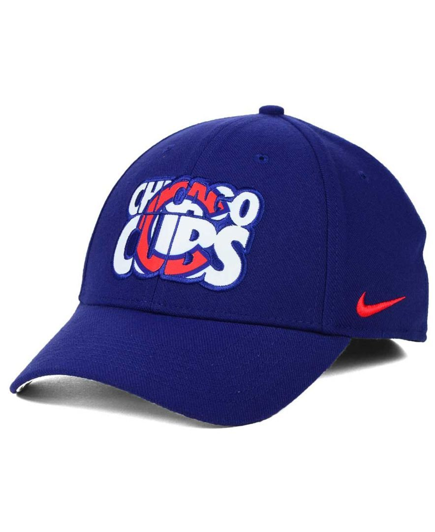 a5357c863 Nike Chicago Cubs Verbiage Logo Cap | Products | Chicago Cubs, Cubs, MLB