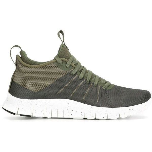 Nike Free Hypervenom 2 FS Sneakers (195 AUD) ❤ liked on Polyvore featuring shoes, sneakers, green, laced shoes, green shoes, round toe shoes, unisex shoes and lace up shoes
