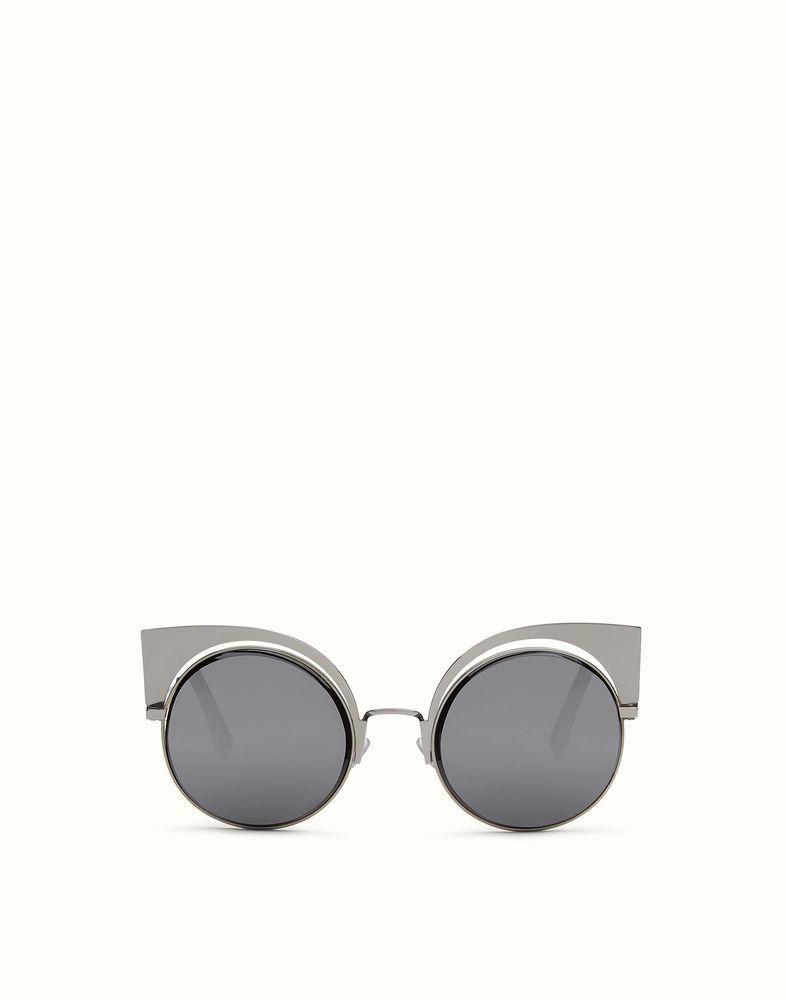 3be5a6dd6ab FENDI EYESHINE - Fashion show sunglasses in ruthenium metal