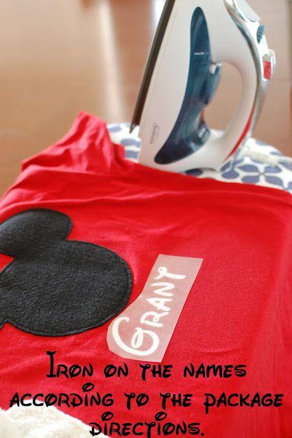Disney Crafts: Personalized Mickey T-shirts