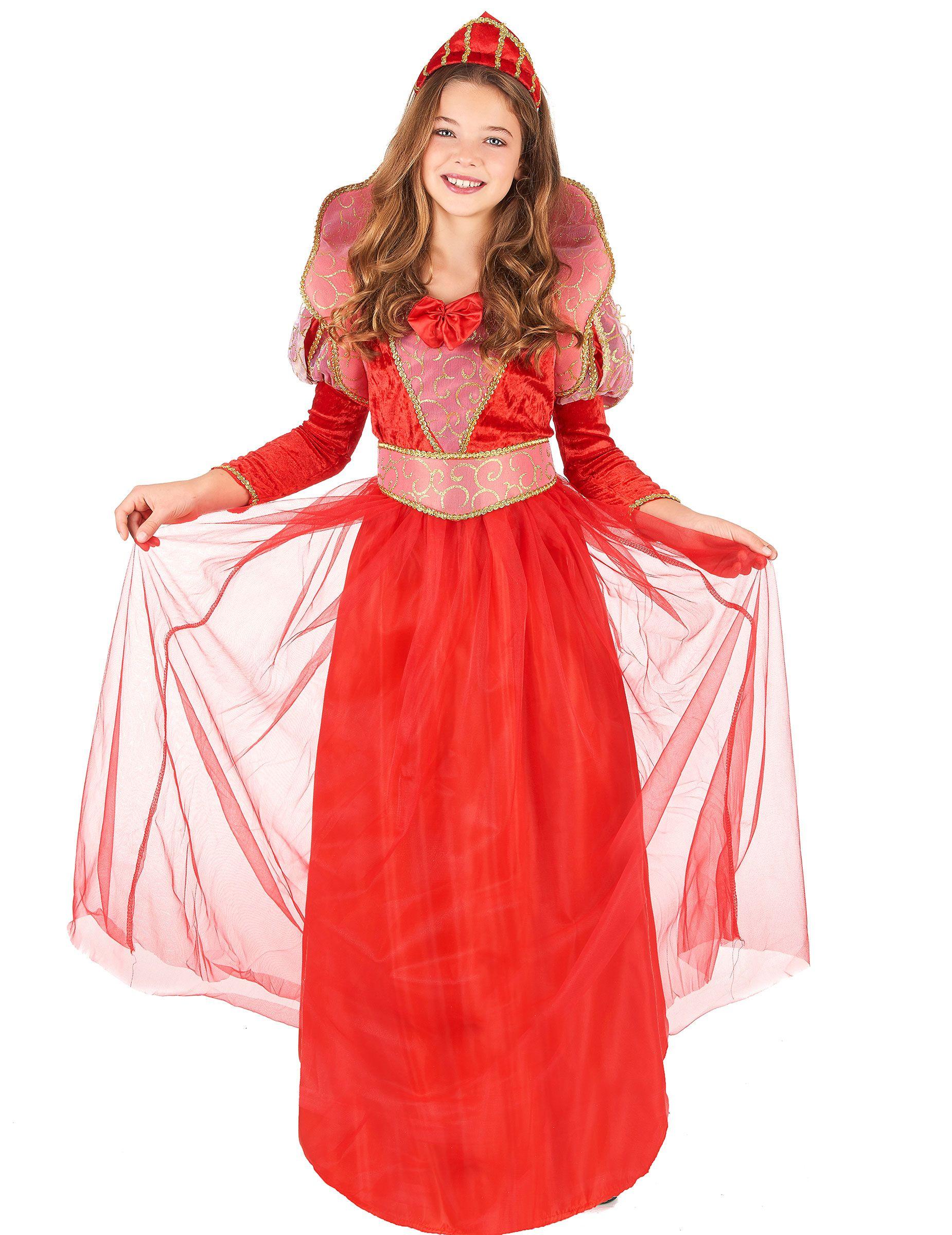 91665a7e359 Déguisement reine médiévale fille   Ce déguisement de reine pour fille se  compose d une