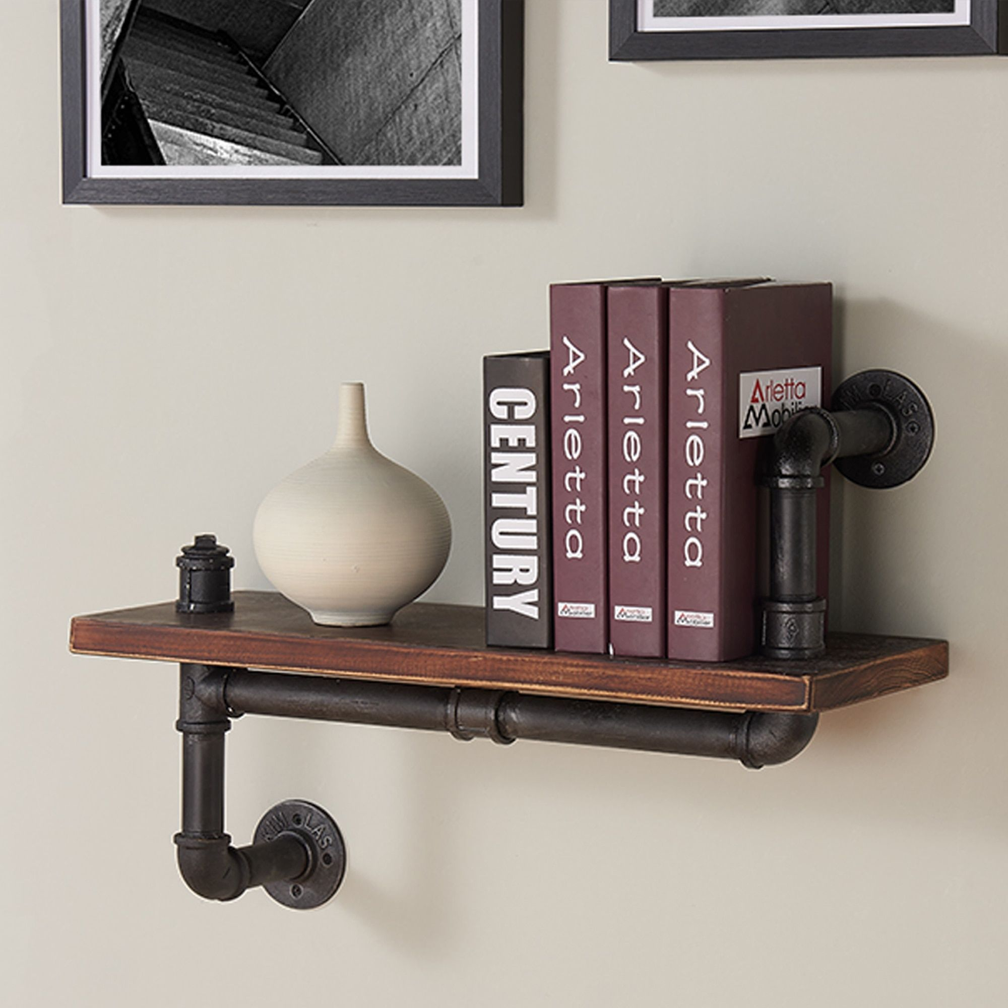 Wood Floating Shelves Set Of 2 Rustic Floating Shelves 24 Inch Made In Europe Wide Wood In 2020 Wood Floating Shelves Rustic Floating Shelves Wooden Wall Shelves