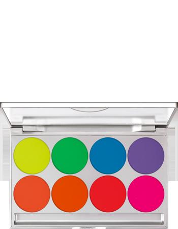 UVDayglow Compact Color Palette 8 Colors Kryolan