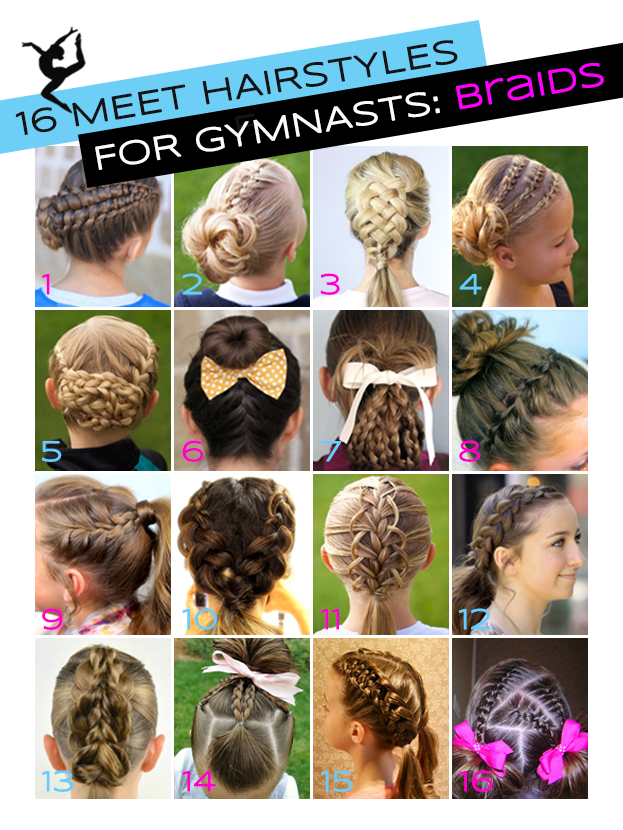 Gymnastics Hairstyles For Competition Braids Edition Gymnastics Hair Hair Styles Gymnastics Meet Hair