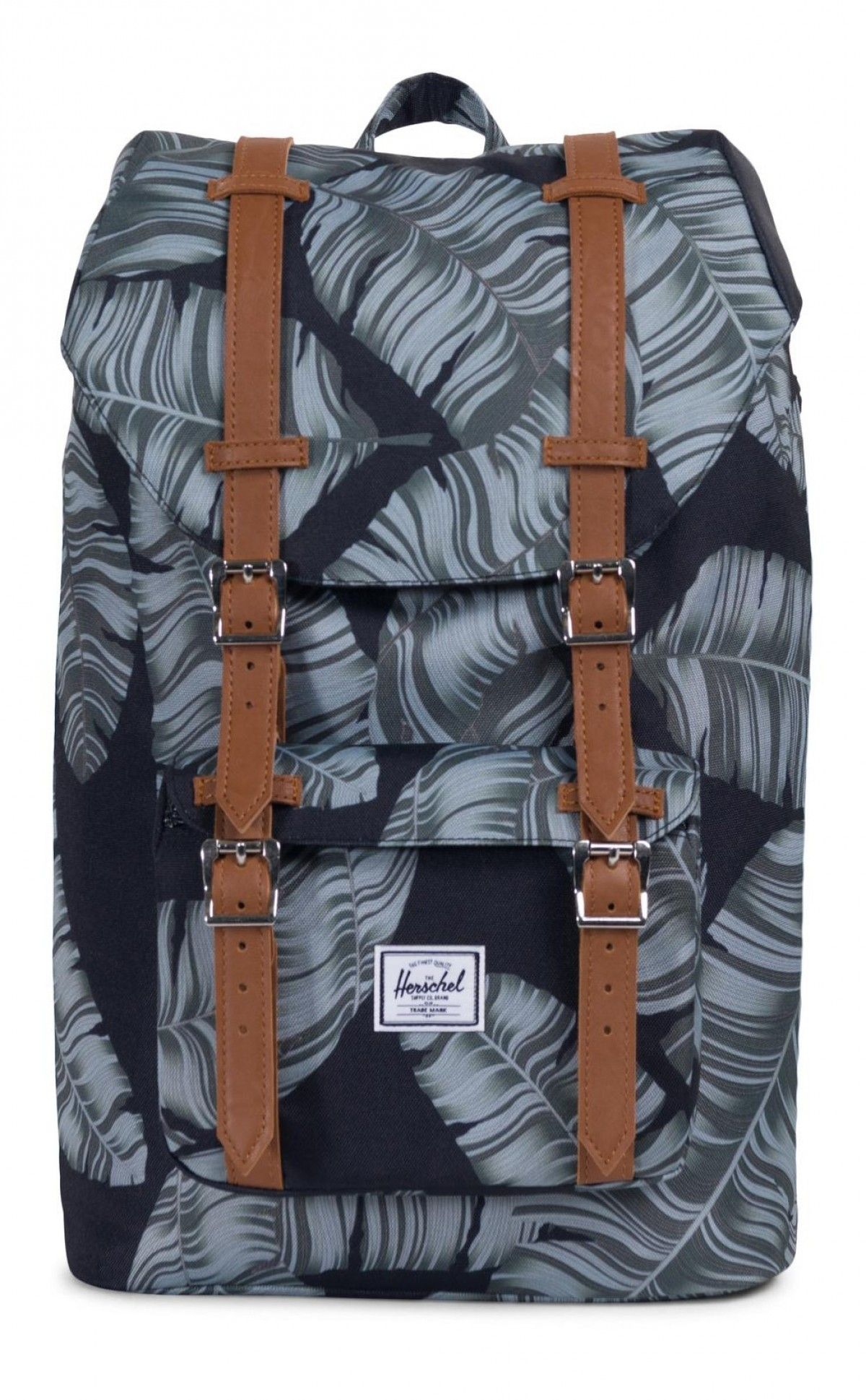 deb6fb0bbf0 Herschel Little America Mid Backpack 600D Poly Black Palm