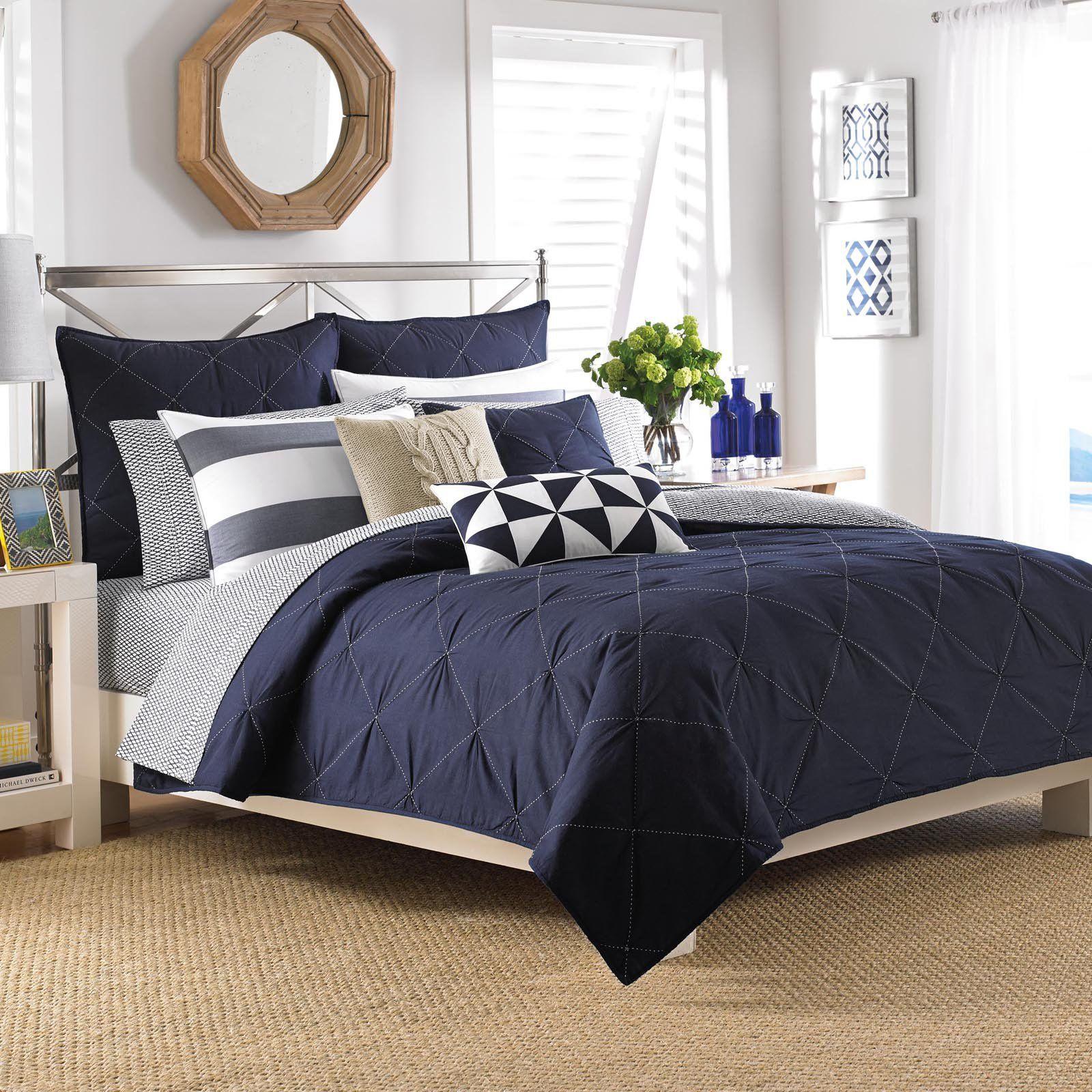 Nautica Lawndale Navy Duvet Cover Set In 2019 Bedding Master Bedroom Blue Master Bedroom Nautical Bedroom
