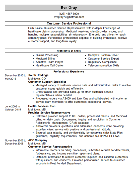 Customer Service Resume Template Customer Service Resume Examples Customer Service Resume Resume Examples