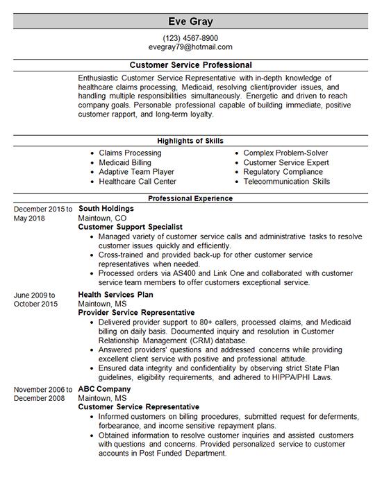 Customer Service Resume Template Customer Service Resume Examples Customer Service Resume Resume Examples