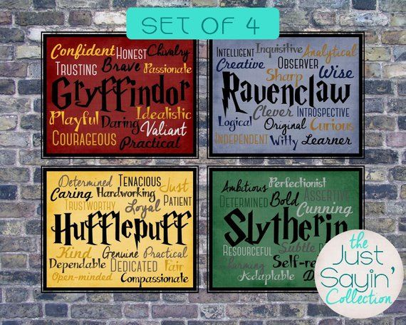 904300871c This listing is a set of FOUR 8x10 Harry Potter Hogwarts House Posters-- Gryffindor