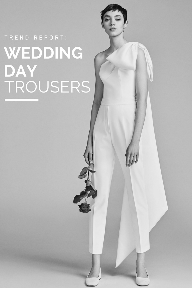 High fashion wedding dress  Trend Report Wedding Day Trousers  Minimalchic  Pinterest