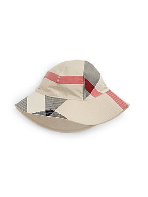 461cdc74eeb Burberry Kid s Reversible Check Bucket Hat