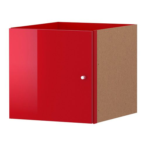 KALLAX Insert with door IKEA The high gloss surfaces reflect light and give a vibrant look. -door insert for cube shelf.