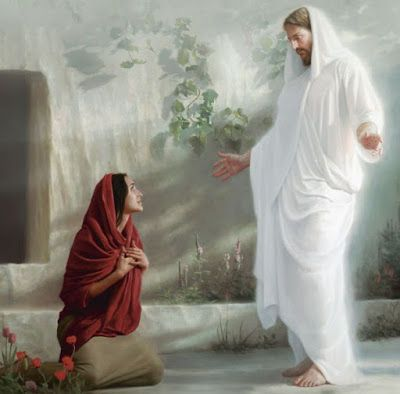 Jesus & Mary at the Tomb – Art that I LOVE~ Religious – jesus Jesus Our Savior, Jesus Art, Jesus Is Lord, Jesus Tomb, Pictures Of Jesus Christ, Bible Pictures, Christian Images, Christian Art, Religious Images