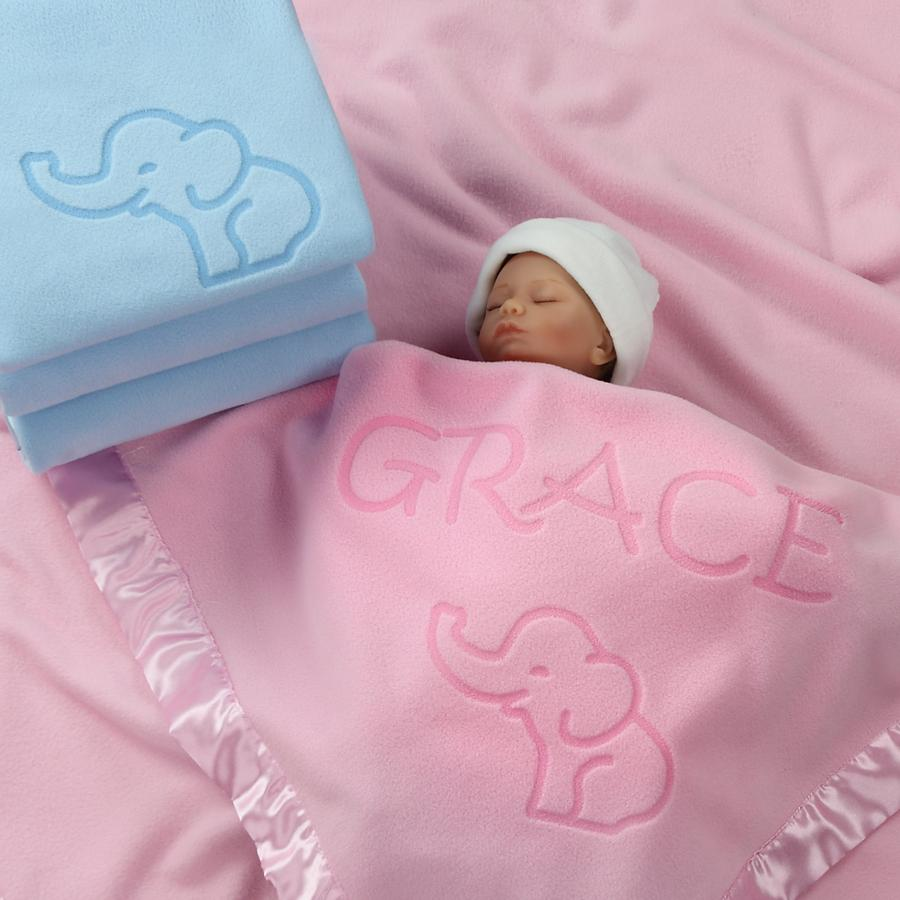 Elephant Blanket Baby Boy, Girls Nursery Décor, Soft