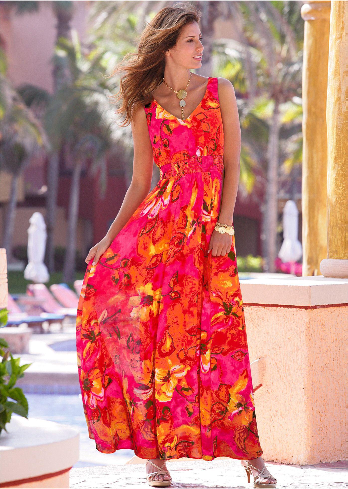 Платье, bpc selection, горячий ярко-розовый с рисунком