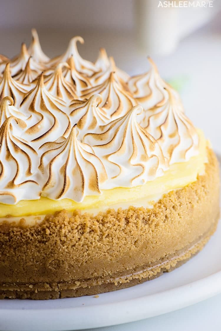 Lemon Meringue Cheesecake Recipe and video #lemonmeringuepie