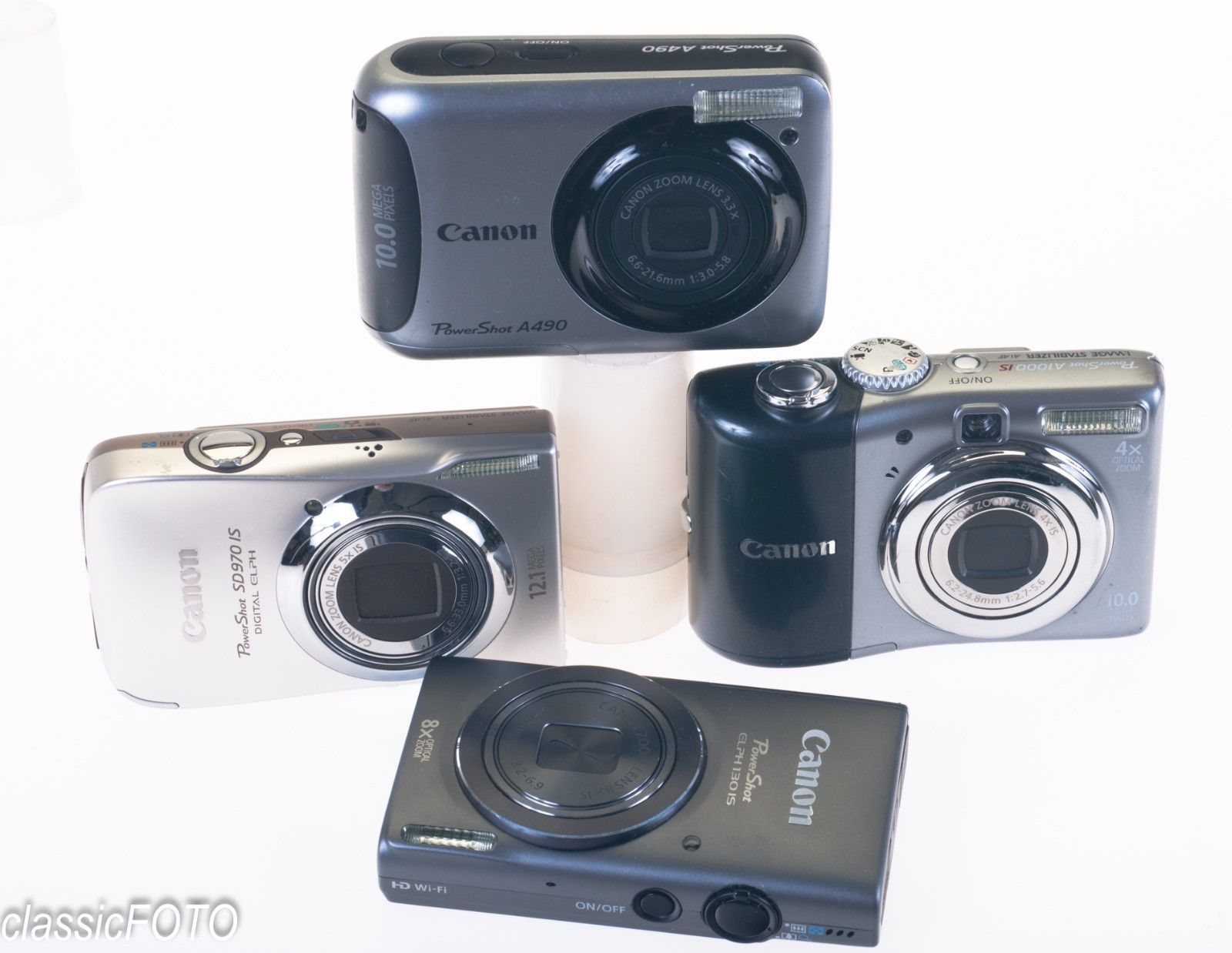 Canon Powershot Sd970 Is 130 Is A1000 Is A490 Digital Camera Lot 4549 Digital Camera Camera Powershot
