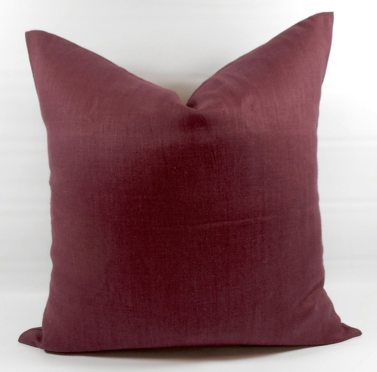 Wired Wine Linen Pillow Cover Wine Red 100 European Linen Etsy Linen Pillow Covers Linen Pillows European Linens
