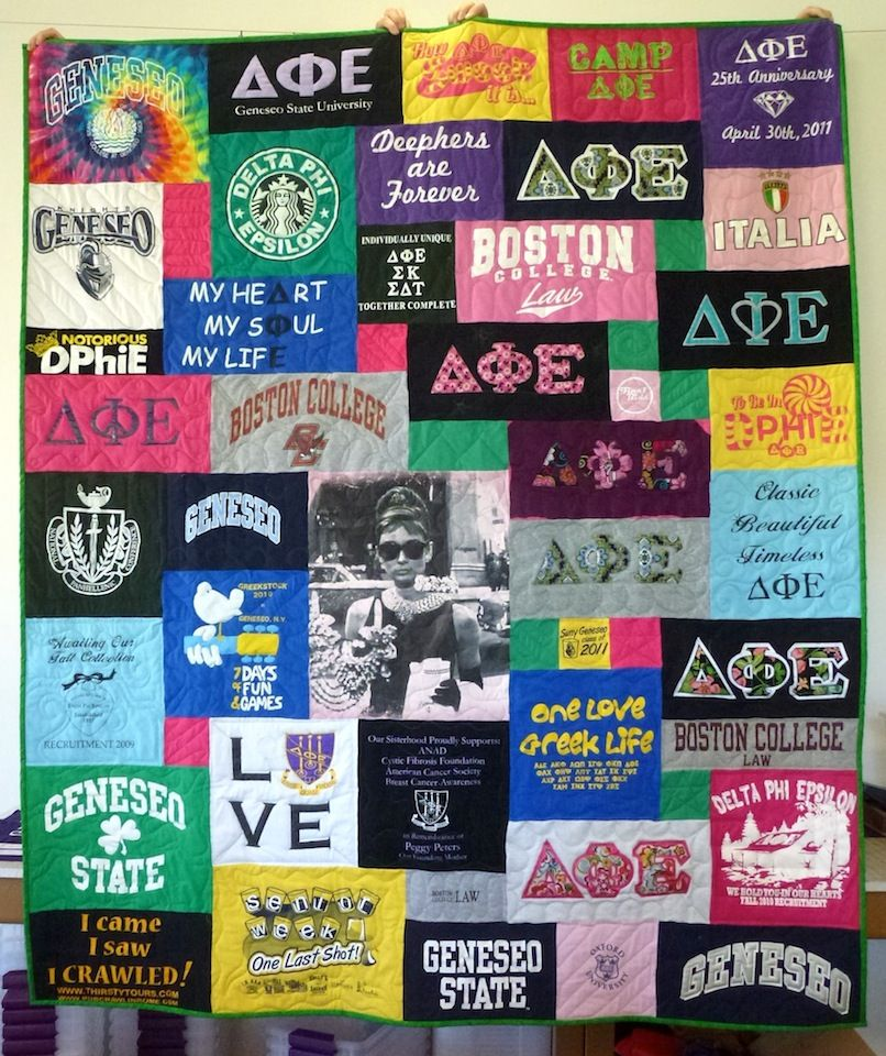 Boston College Sorority quilt Tshirt quilt, Shirt quilt