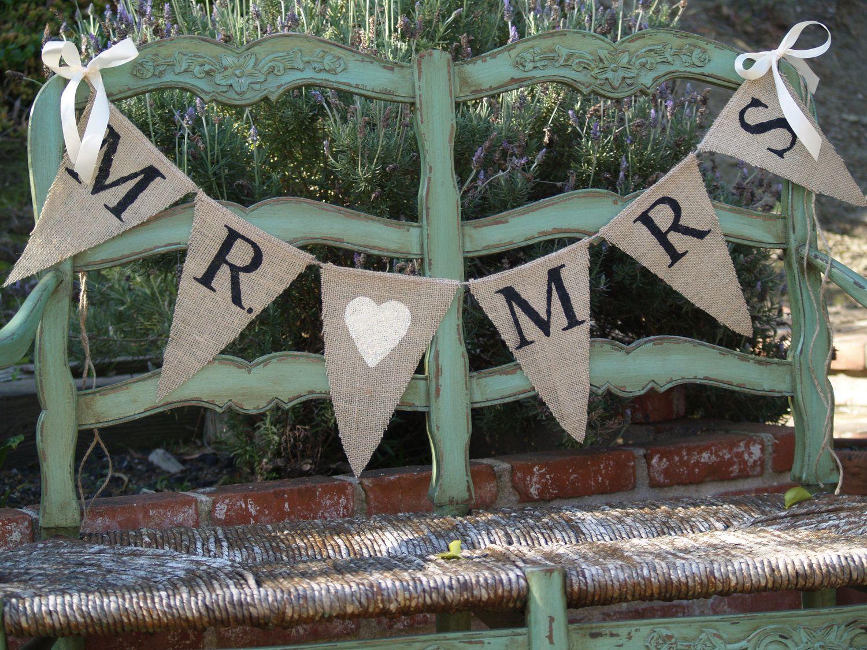 wedding banners burlap