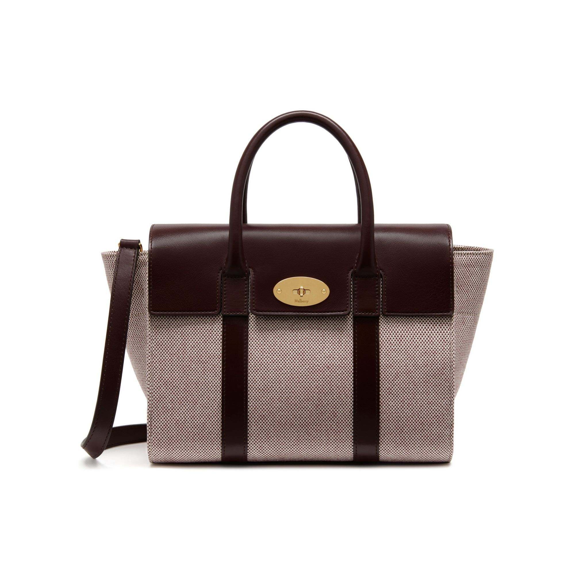 6f4f095757 Small New Bayswater. Natural oxblood Canvas and smooth Calf. RRP £750. SS17
