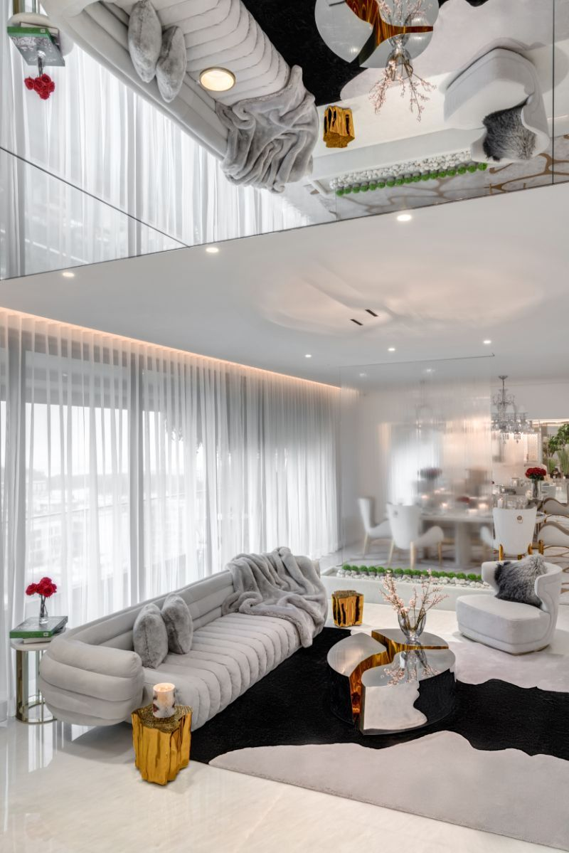 Wondered and designed completely by husband and wife Vratika & Nakul, this modern house design proves that with the right design inspiration and using luxury furniture pieces by the most exquisite high-end brands, it is possible to create a marvelous, sophisticated and glamorous interior design project. Visit us for: #interior #decor #moderndecor #interiordecor #moderninteriordesign #contemporaryinteriors #besthomestyle #interiordesign #luxury #interiors #interiordesign #homedecor #livingroom