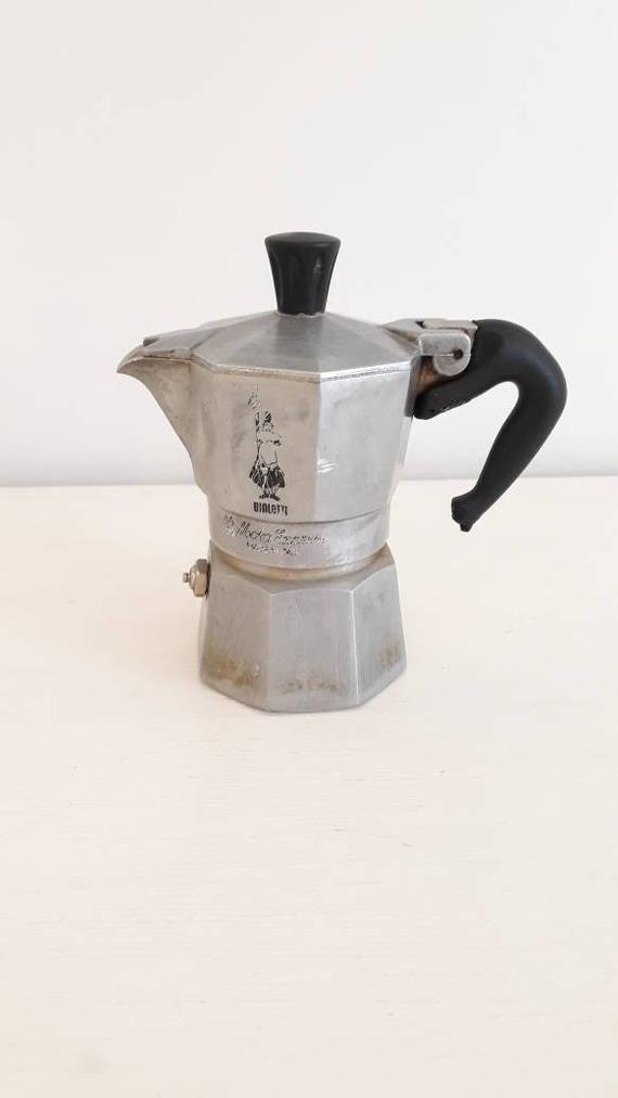 Vintage Italian espresso maker, retro Bialetti, stovetop espresso pot Made in Italy ***SPECIAL OFFER***see details #espressomaker